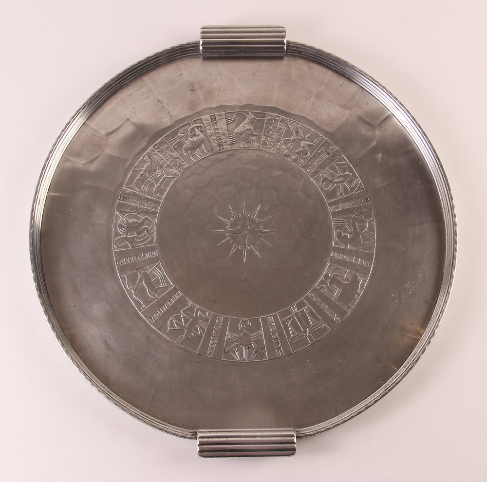 Armour Art Deco Zodiac Gallery Tray