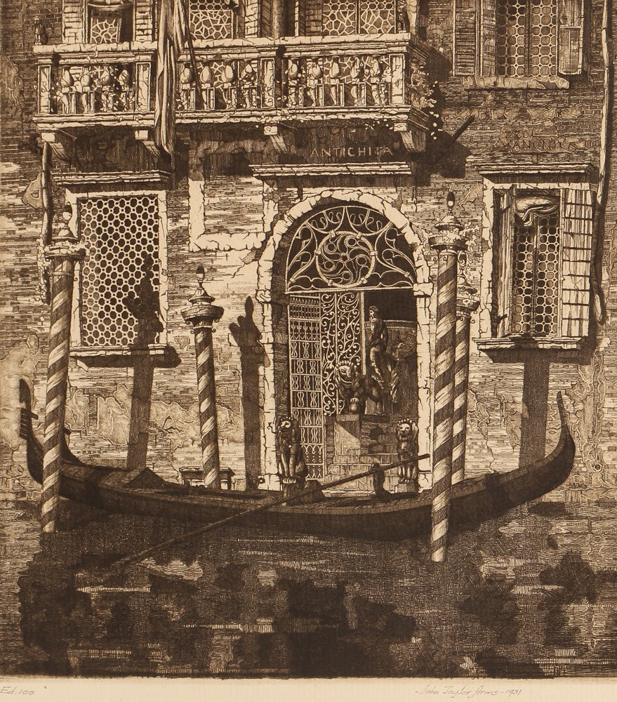 John Taylor Arms Palazzo dell' Angelo Etching 1931