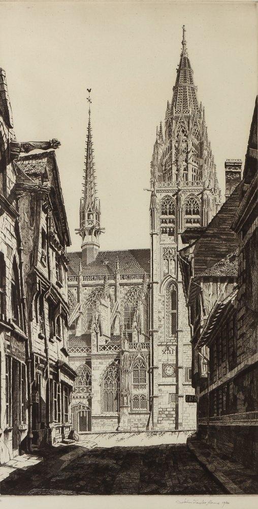 John Taylor Arms Sunlight on Stone - Etching