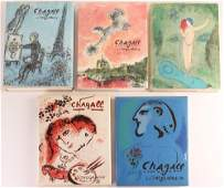 5 Mark Chagall Books The Lithographs 3456  Daphnis