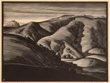 Paul Landacre Point Sur Wood Engraving 1931