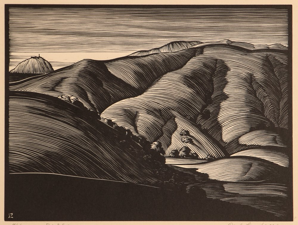 Paul Landacre Point Sur Wood Engraving 1931