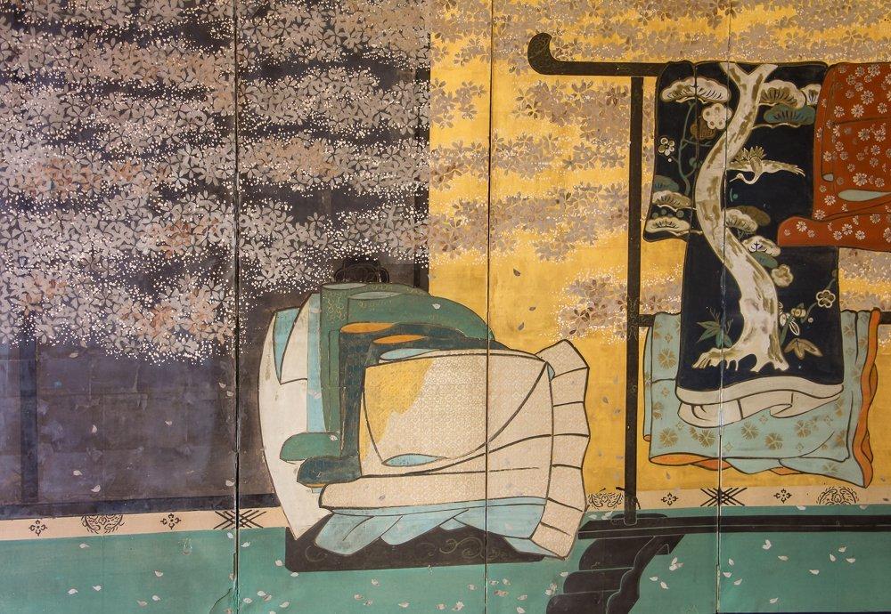 "6 Panel Japanese Folding Screen ""tagasode - byobu"" - 2"