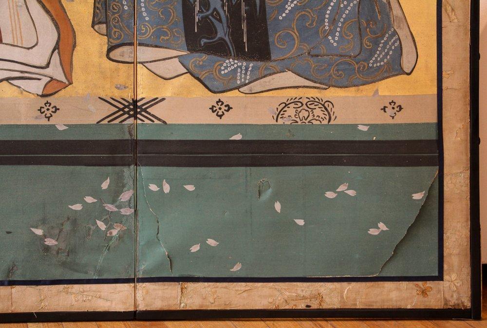 "6 Panel Japanese Folding Screen ""tagasode - byobu"" - 4"