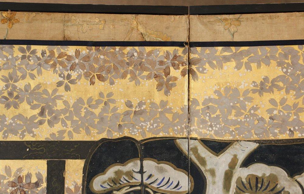"6 Panel Japanese Folding Screen ""tagasode - byobu"" - 5"
