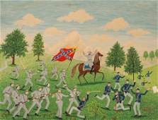 "Albert Webster Davies painting ""Stonewall Jackson"