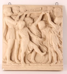 Plaster Wall Relief After Renaissance Blast Of The