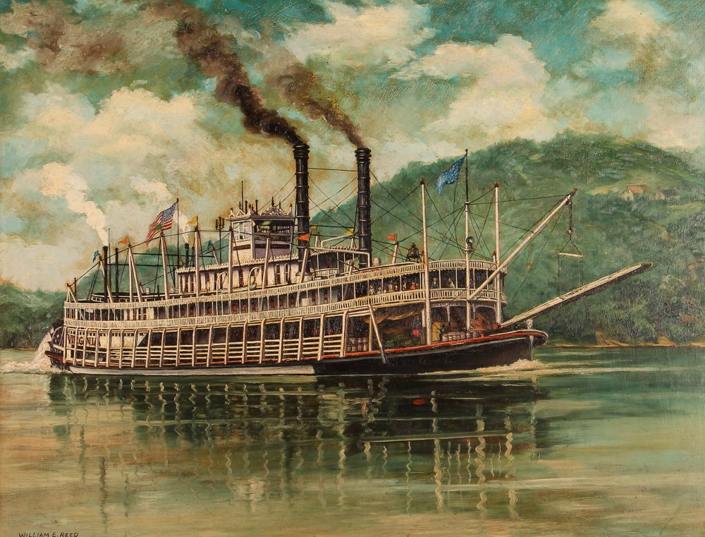 """William Reed """"The Stern Wheel River Boat, Virginia"""""""