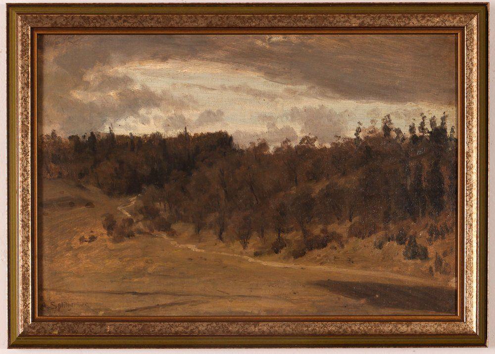 "August Splitgerber oil ""Landscape Study"""