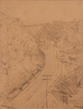 """Andrey Avinoff Drawing """"pittsburgh Railroad Valley And"""