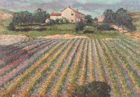 Carl Walburg Oil Painting Of Pittsburgh Cut Flower Farm