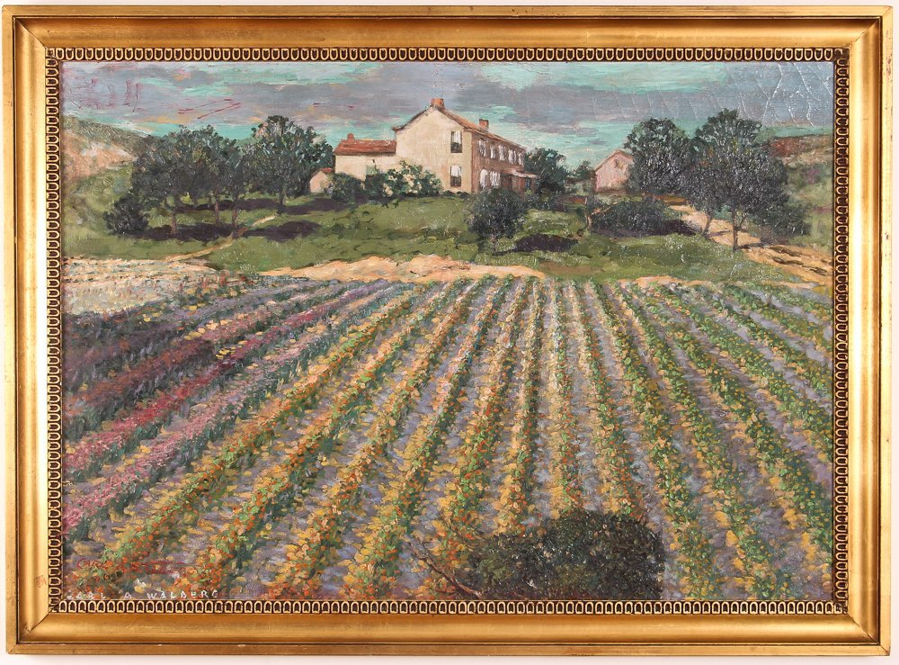Carl Walburg Oil Painting of Pittsburgh Cut Flower Farm - 2