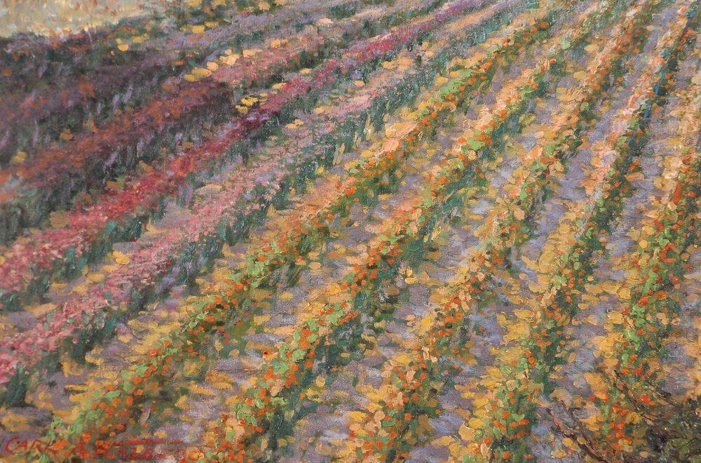 Carl Walburg Oil Painting of Pittsburgh Cut Flower Farm - 4