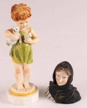 Royal Worcester Wednesday's Child Knows Little Woe