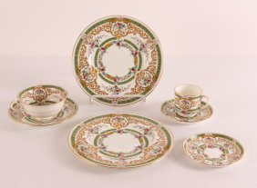 Royal Cauldon Dinner Service Pattern V9255