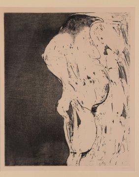 "Leonard Baskin 1962 Etching And Aquatint ""bird Man"""