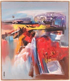 Teng Beng Chew Malaysian Landscape Oil Painting 1967
