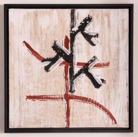 James Siena Untitled Distemper & Graphite On Silk 1985