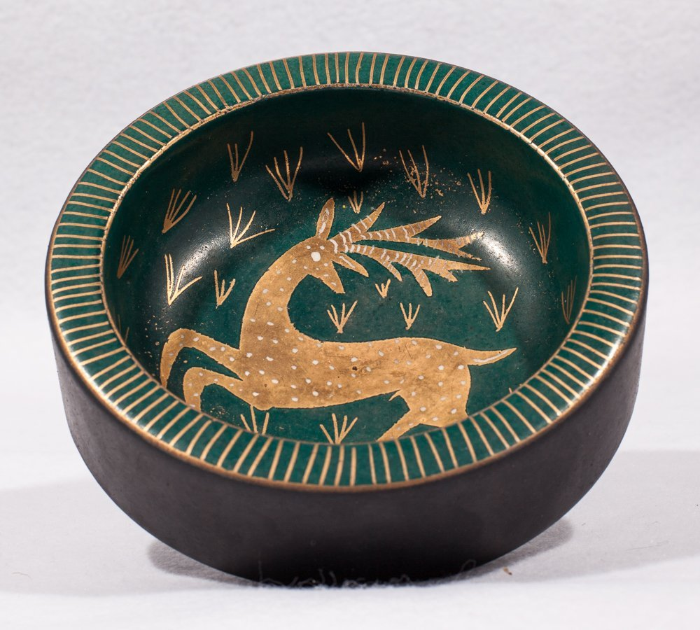 Wayland Gregory Small Bowl w/Deer