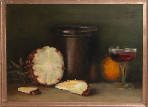 2: 19th Century American Still Life with Pineapple