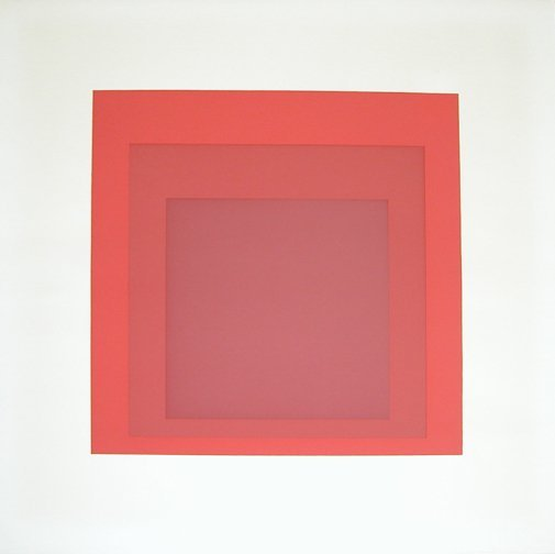 3: Albers color serigraph Abstract Color Square: GB 1,