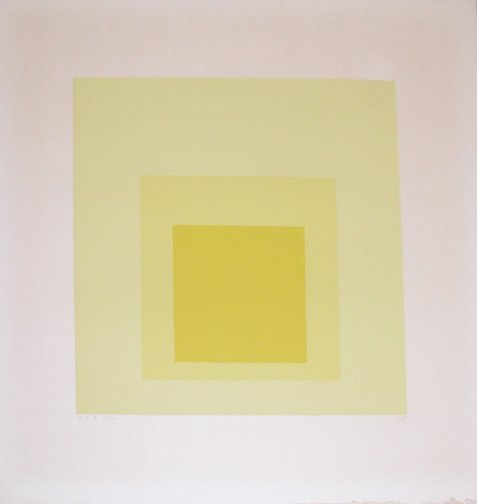 4: Albers signed color serigraph Abstract Color Square: