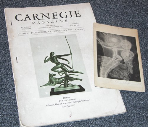 13: Andrey Avinoff signed postcard and 1937 Carnegie Ma