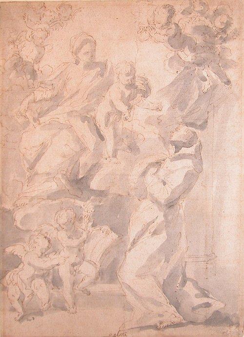 17: Attributed to Mattia Bortolini, Adoration of the Vi