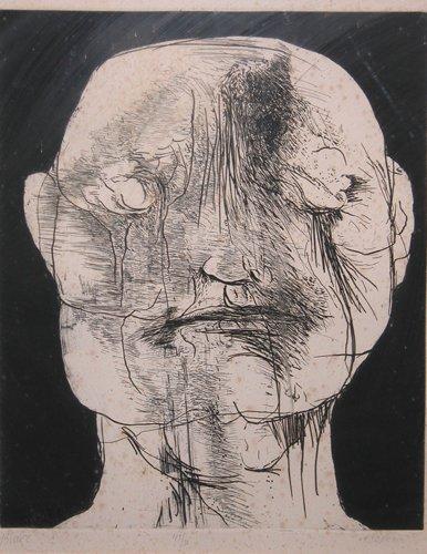 18: Leonard Baskin, 2 etchings Blake and Profile