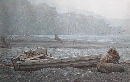 20: 2 Bateman signed prints Whaling Base and Osprey