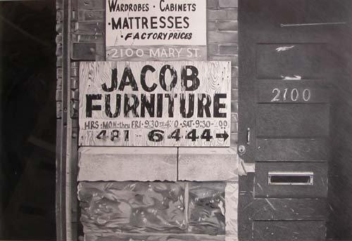 23: Chuck Biddle drawing Jacob Furniture