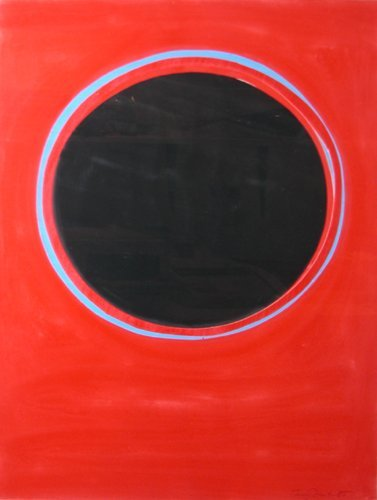 69: Sir Terry Frost, Sunspot Red gouache and collage
