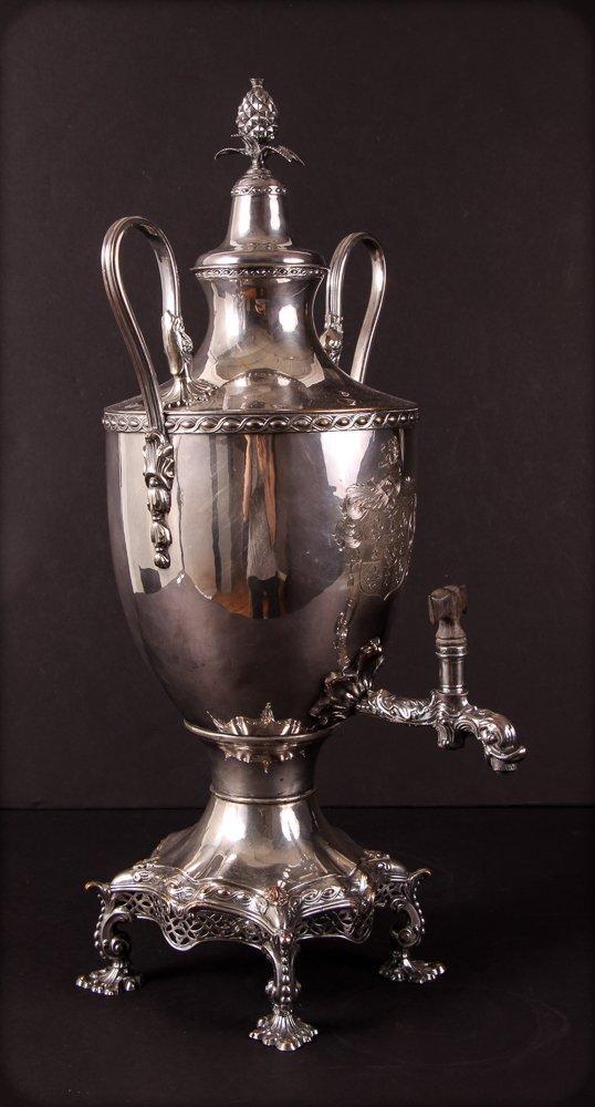 Antique 19th Century Georgian Style Silverplate Tea Urn - 2