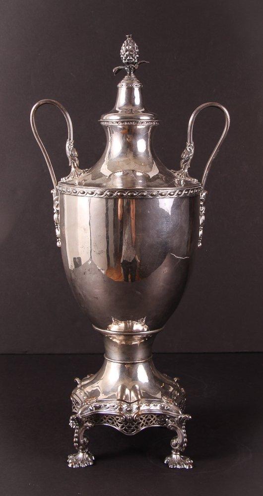 Antique 19th Century Georgian Style Silverplate Tea Urn - 3