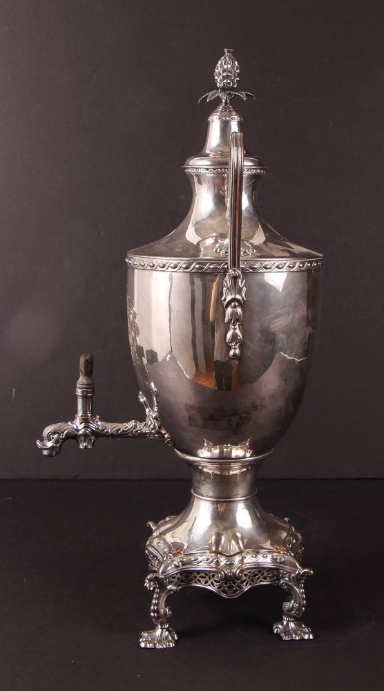 Antique 19th Century Georgian Style Silverplate Tea Urn - 4