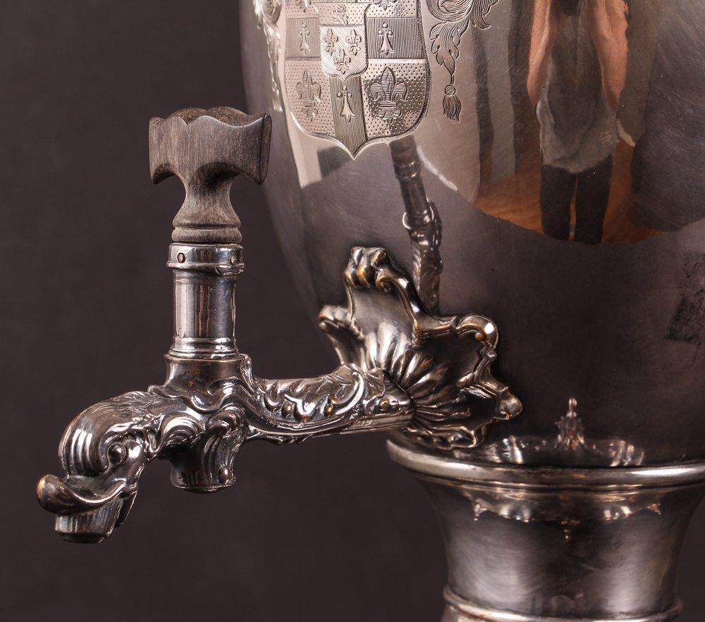 Antique 19th Century Georgian Style Silverplate Tea Urn - 5
