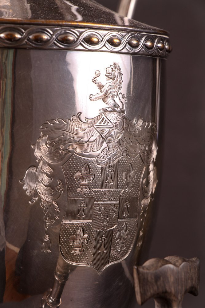 Antique 19th Century Georgian Style Silverplate Tea Urn - 6