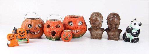 Vintage Papier Mache Halloween Decorations More