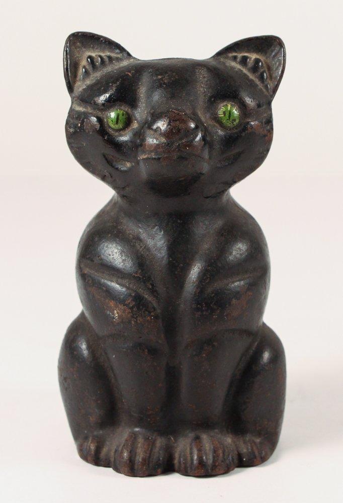 Black Cast Iron Cat doorstop