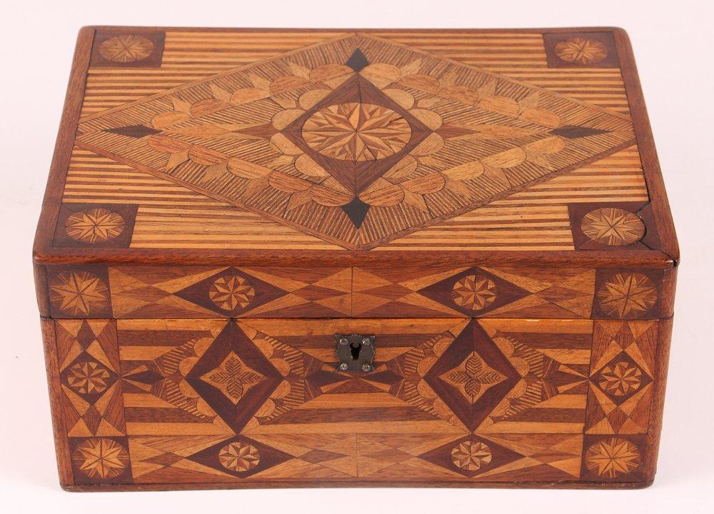 Prison made Folk Art Marquetry Box