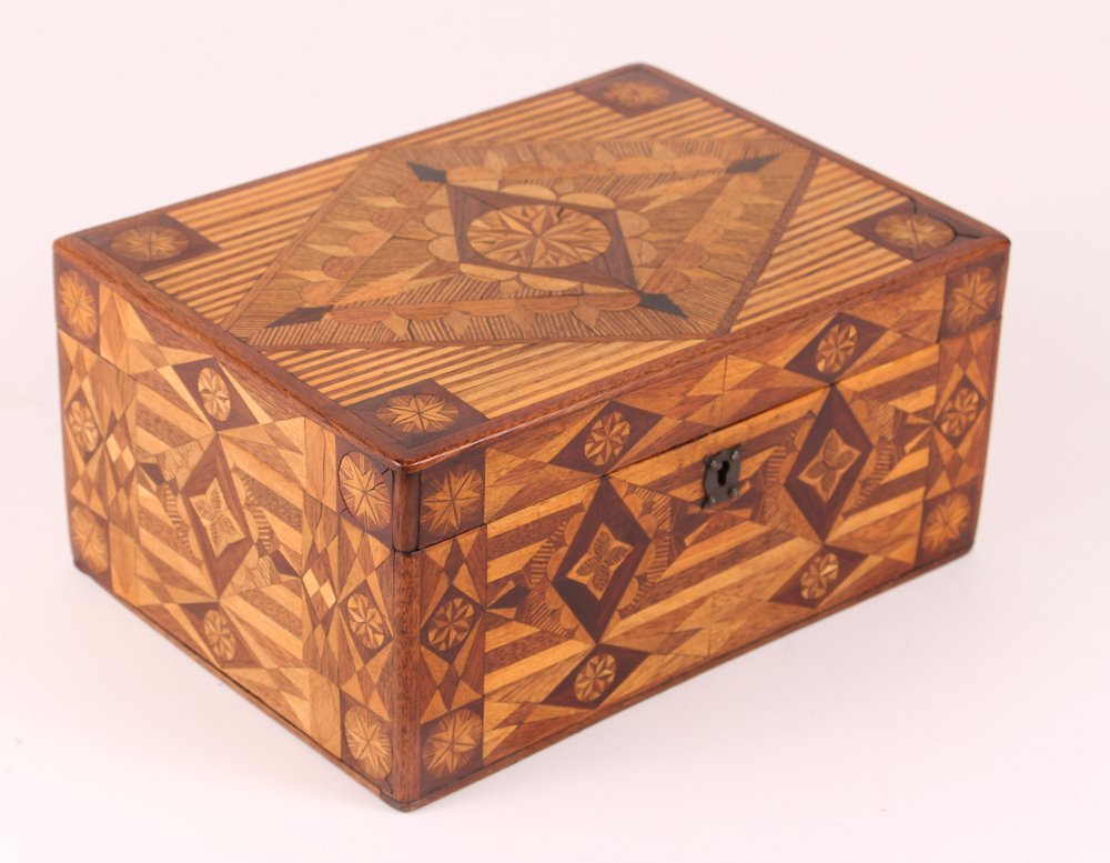 Prison made Folk Art Marquetry Box - 2