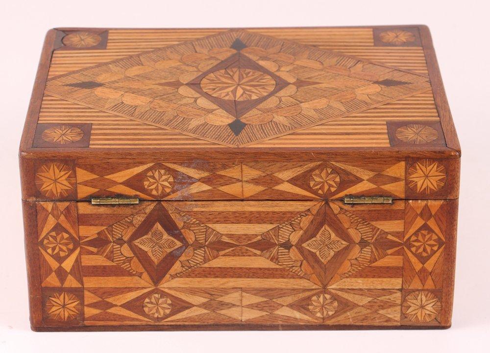 Prison made Folk Art Marquetry Box - 3
