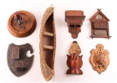 A Collection of wooden Folk Art