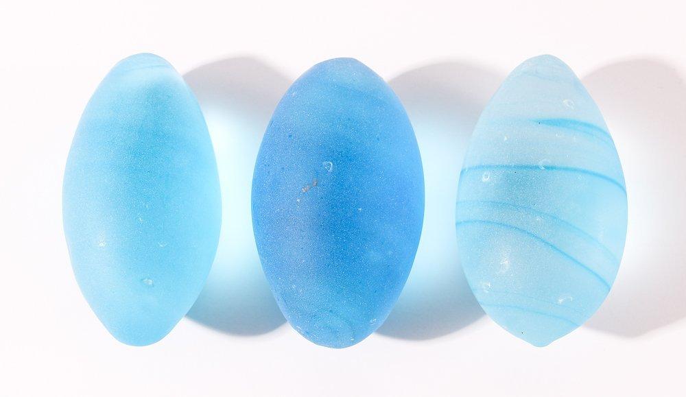 15 Assorted Matte Glass Eggs - 3