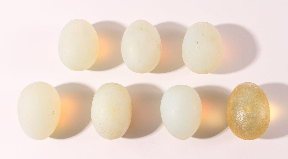 15 Assorted Matte Glass Eggs - 5