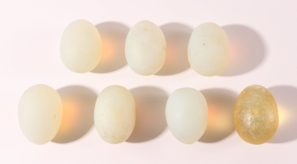 15 Assorted Matte Glass Eggs - 5