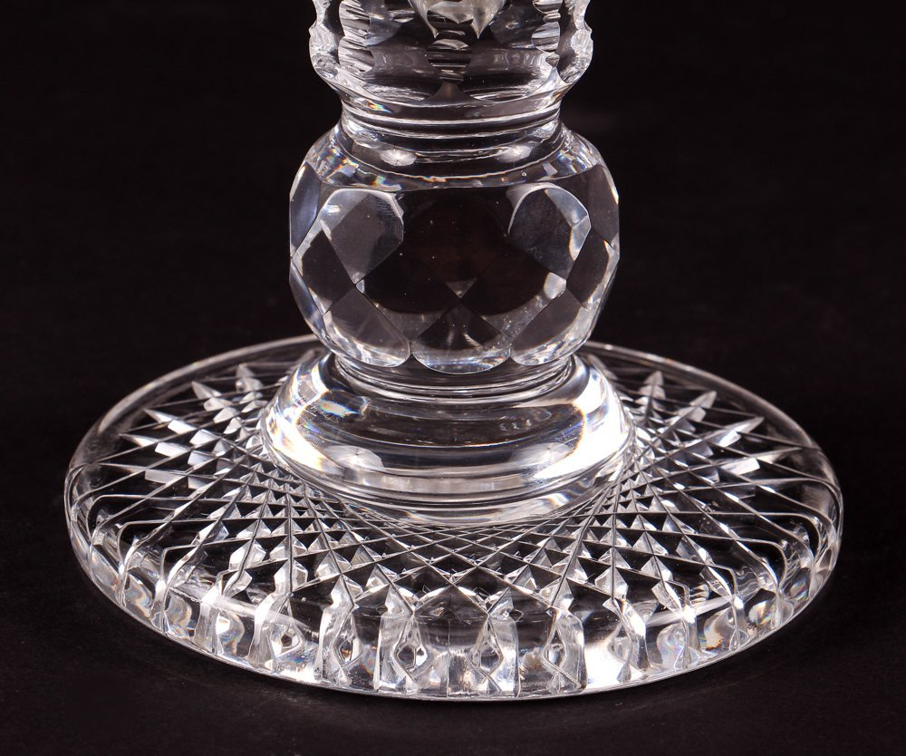 Brilliant Cut Glass Tulip Vase - 5