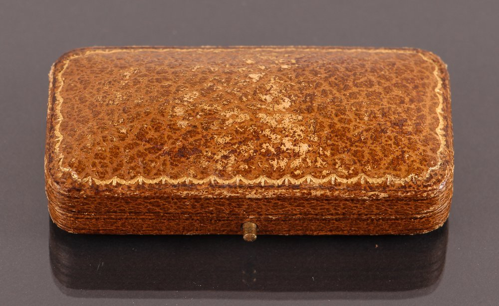 Edwardian Gold, Pearl, & Semi-Precious Stone Pin w Box - 6