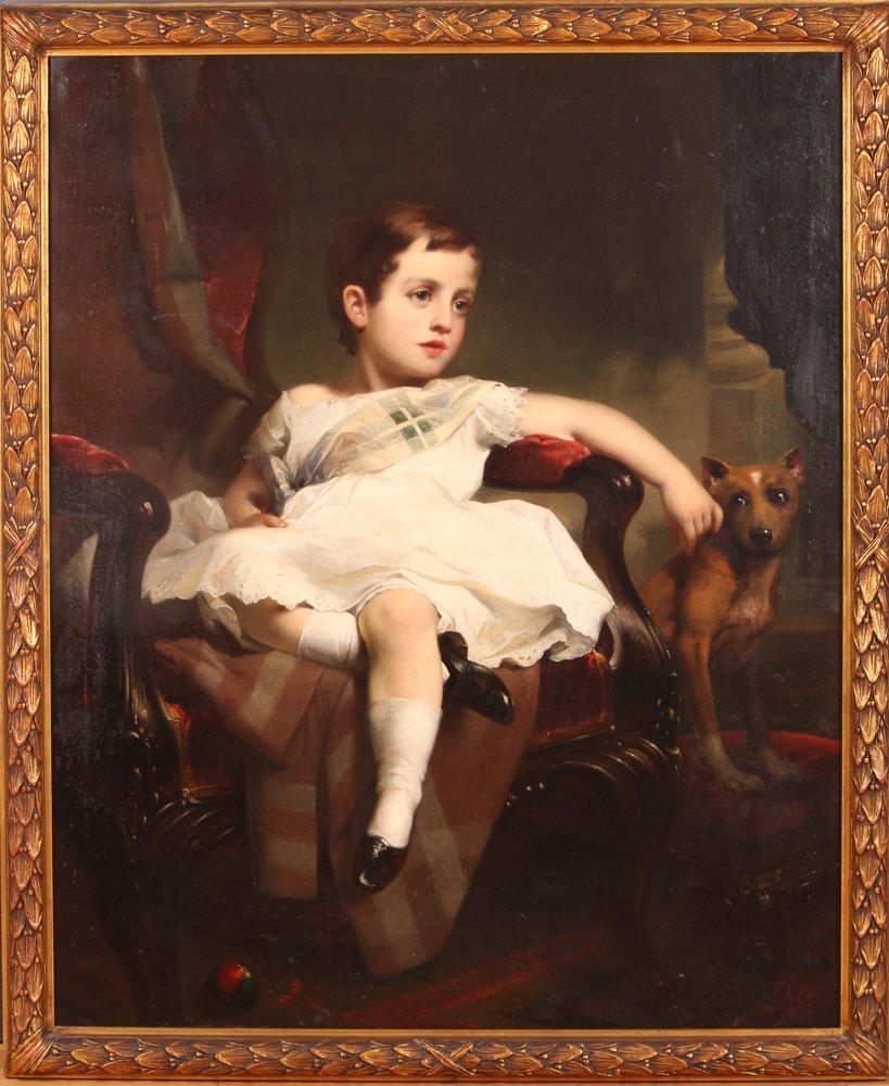 """Samuel Bell Waugh portrait 8 Year Old """"Stoner Herstein"""""""
