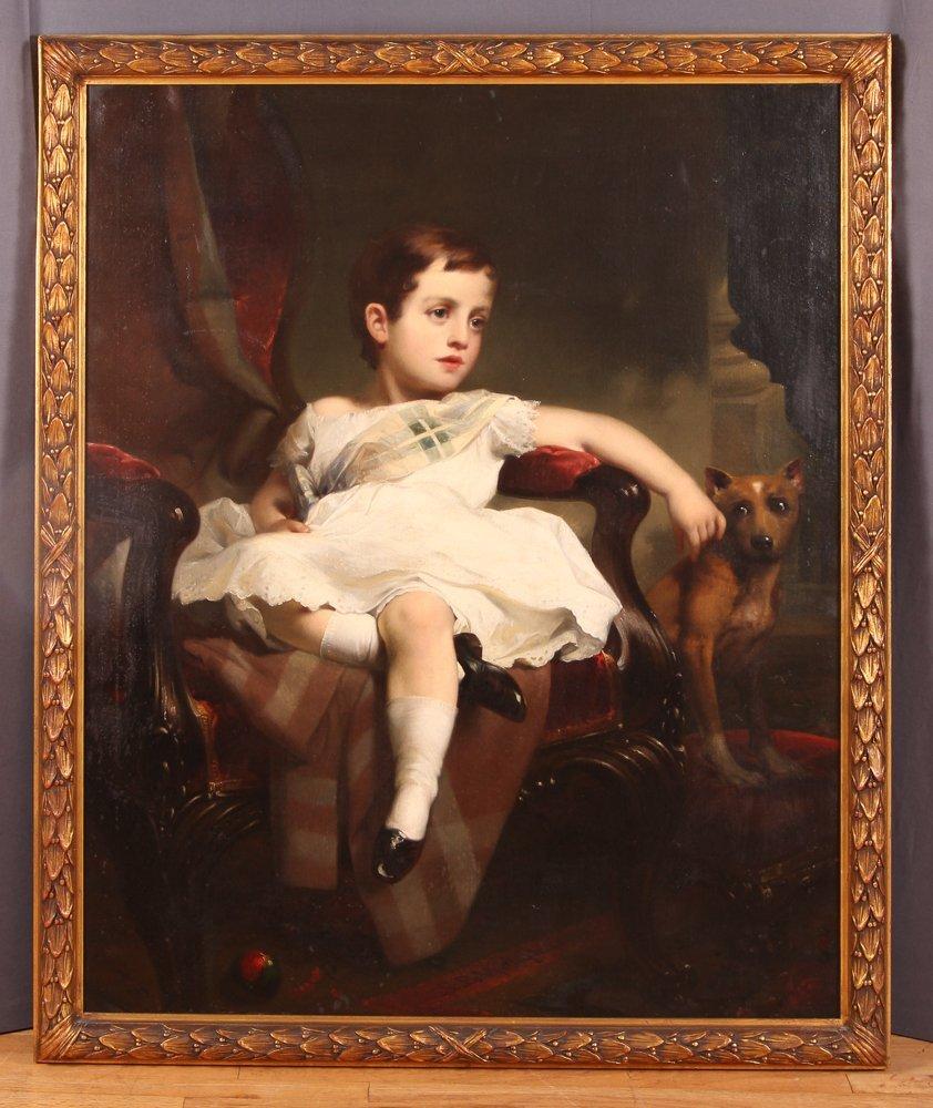 """Samuel Bell Waugh portrait 8 Year Old """"Stoner Herstein"""" - 2"""